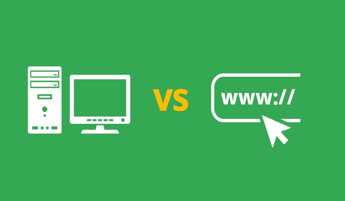 desktop versus online mp3 downloaders